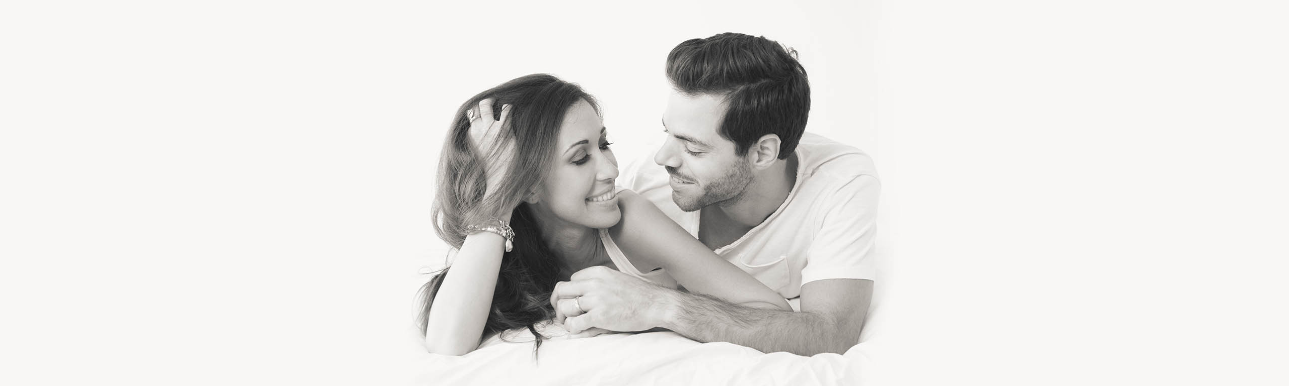 Black and white photography of romatic couple